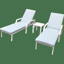 מיטת שיזוף ושולחן פרובנס