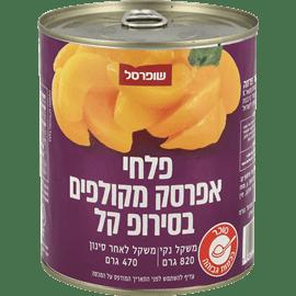 פלחי אפרסקים בסירופ