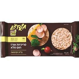 פריכיות אורז צ'יה+קינואה