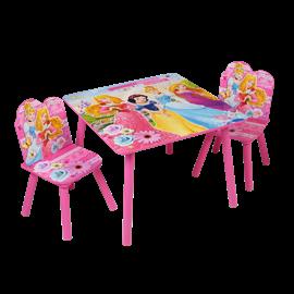 סט שולחן+2 כסאות  נסיכות