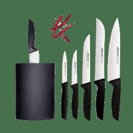 סט 5 סכיני שף בבלוק