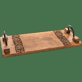 מגש עץ עם ידיות