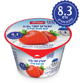 יוגורט יווני טעם תות0.9%