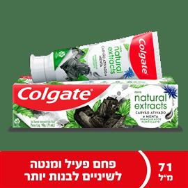 משחת שיניים נטורל עם פחם