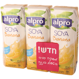 משקה סויה טעם בננה