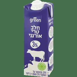 חלב אורגני גרין 3% שומן
