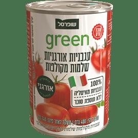 עגבניות אורגניות מקולפות