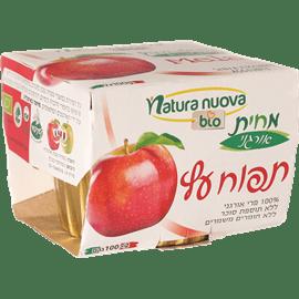 מחית תפוח אורגני 100%פרי