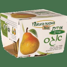 מחית אגס אורגני 100% פרי