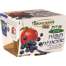 מחית תפוח אוכמניה100%פרי