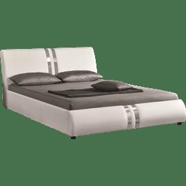 מיטה זוגית מרופדת גלי