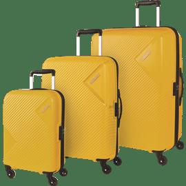 סט 3 מזוודות צהוב