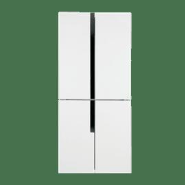 מקרר 4 דלתות זכוכית לבן