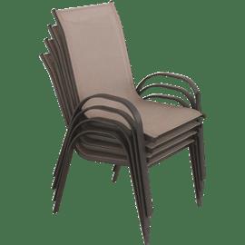 סט 4 כסאות בד רשת