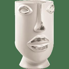 אגרטל מקרמיקה דמוי פנים