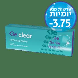 Be clear עדשות מגע 3.75-