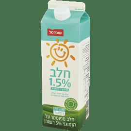 """חלב 1.5% כשל""""פ שופרסל"""