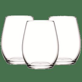 סט 3 כוסות יין AMBER