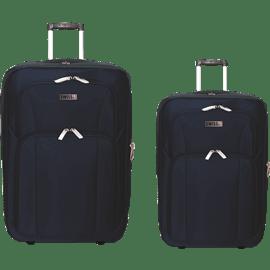 זוג מזוודות בד נייבי