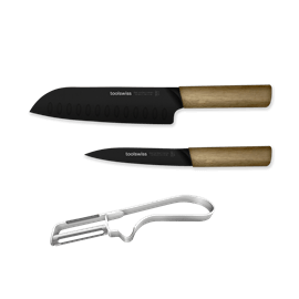 סט 3 סכינים וקולפן