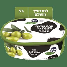 גבינת שמנת עם זיתים 5%