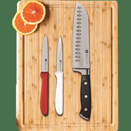 סט קרש חיתוך+סכינים