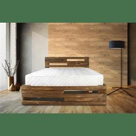 מיטה מעוצבת מעץ אורן מלא