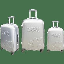 סט3 מזוודות ABS כסוף