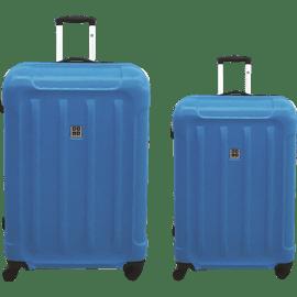זוג מזוודות ABS אדום