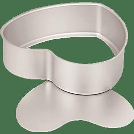 תבנית לב Silver Anodiz