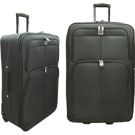 זוג מזוודות 24+28 שחור