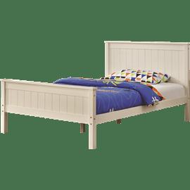 מיטה זוגית מעץ מלא לינור