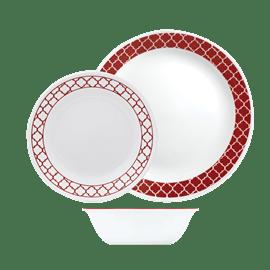 סט צלחות Crimson Trelis