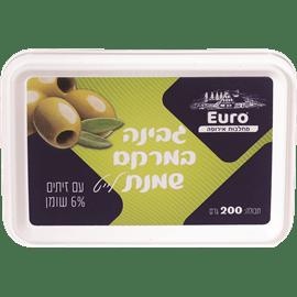 גבינת שמנת לייט עם זיתים