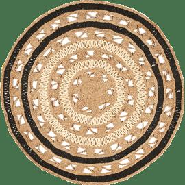 שטיח יוטה טבעי ושחור