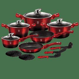 סט כלי בישולmetallic red