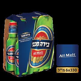 בירה מכבי מארז בקבוקים