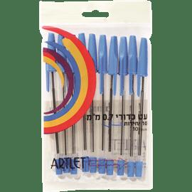 סט 10 עטים כחול
