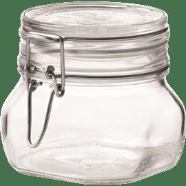 צנצנת זכוכית קליפס