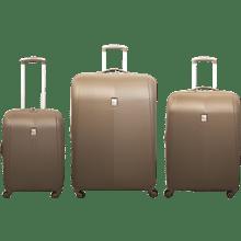 שלישיית מזוודות קשיחות