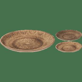 צלחת הגשה עץ עגולה