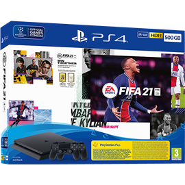 PS4 SLIM 500GB FIFA 21 2