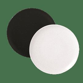 צלחת מנה עיקרית שחור לבן