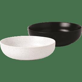 קערת סלט קרמיקה שחור לבן