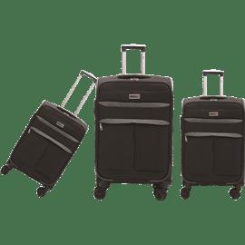 שלישיית מזוודות בד שחור