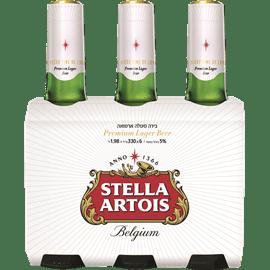 בירה סטלה ארטואה בקבוקים