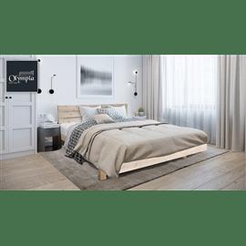מיטה עץ מלא+מזרן קפיצים