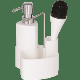 דיספנסר לסבון עם מברשת
