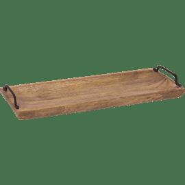מגש עץ עם ידיות נטורל