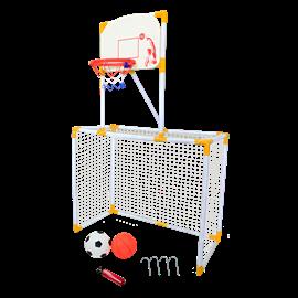 ערכת כדורגל + כדורסל 2 ב